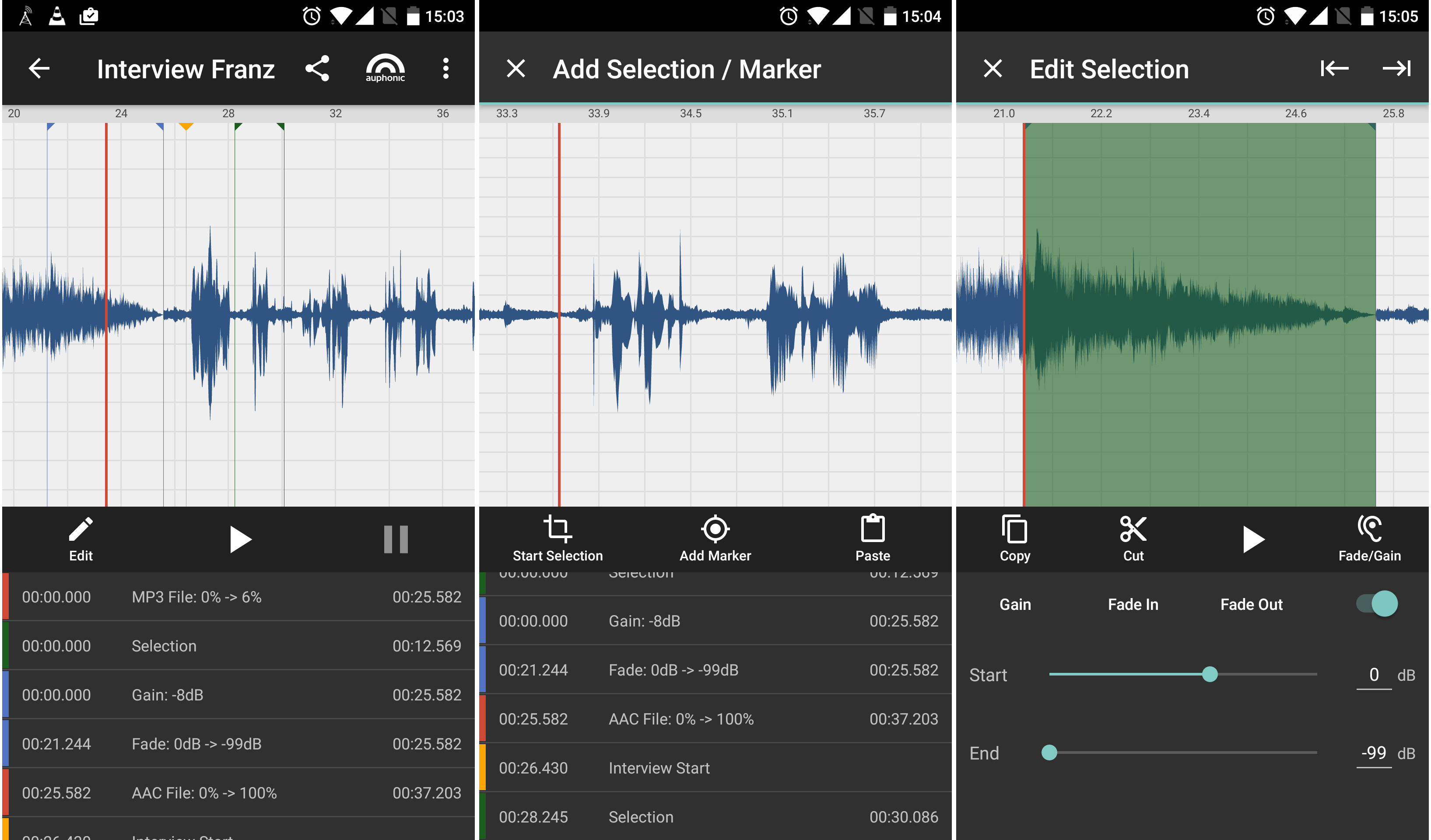 Auphonic Edit: Audio Editor and Recorder for Android