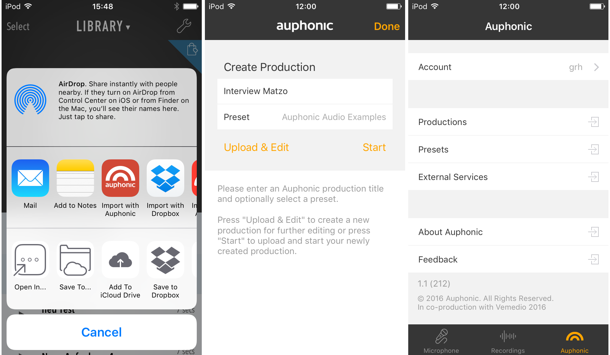 Auphonic Recorder for iOS — Auphonic Help 2019 documentation