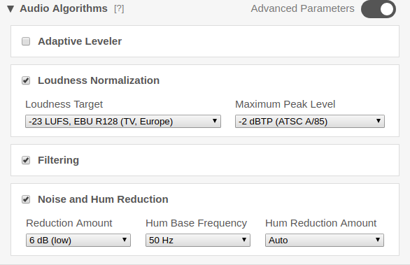 Auphonic Blog: Auphonic Adaptive Leveler Customization (Beta
