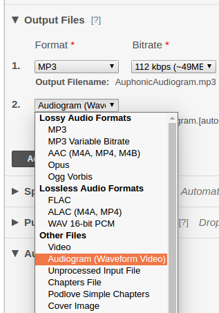 Auphonic Blog: Auphonic Audiogram Generator: Waveform Videos for