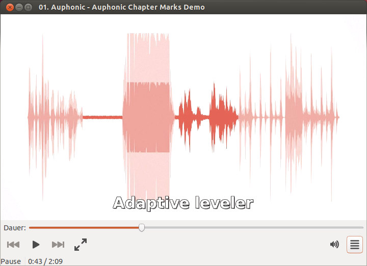 Chapter marks in Ubuntu's media player