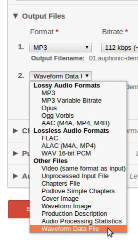 Auphonic Blog: New Output Format to Render Audio Waveforms in the