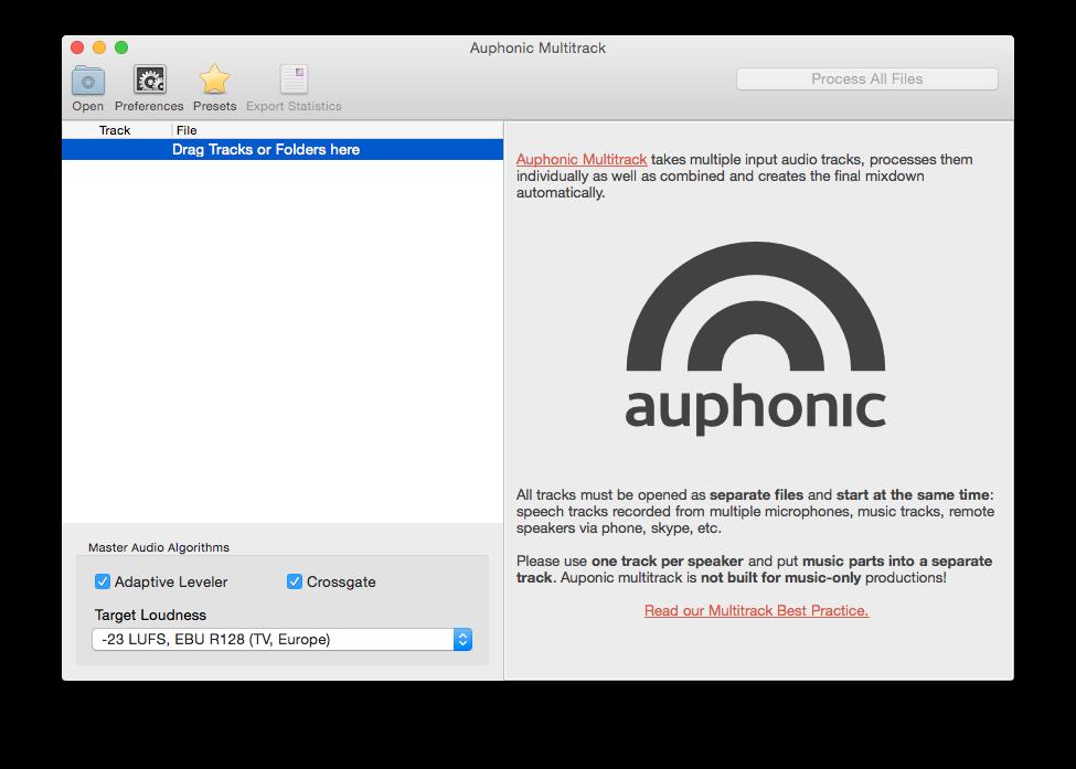 Auphonic Multitrack Processor